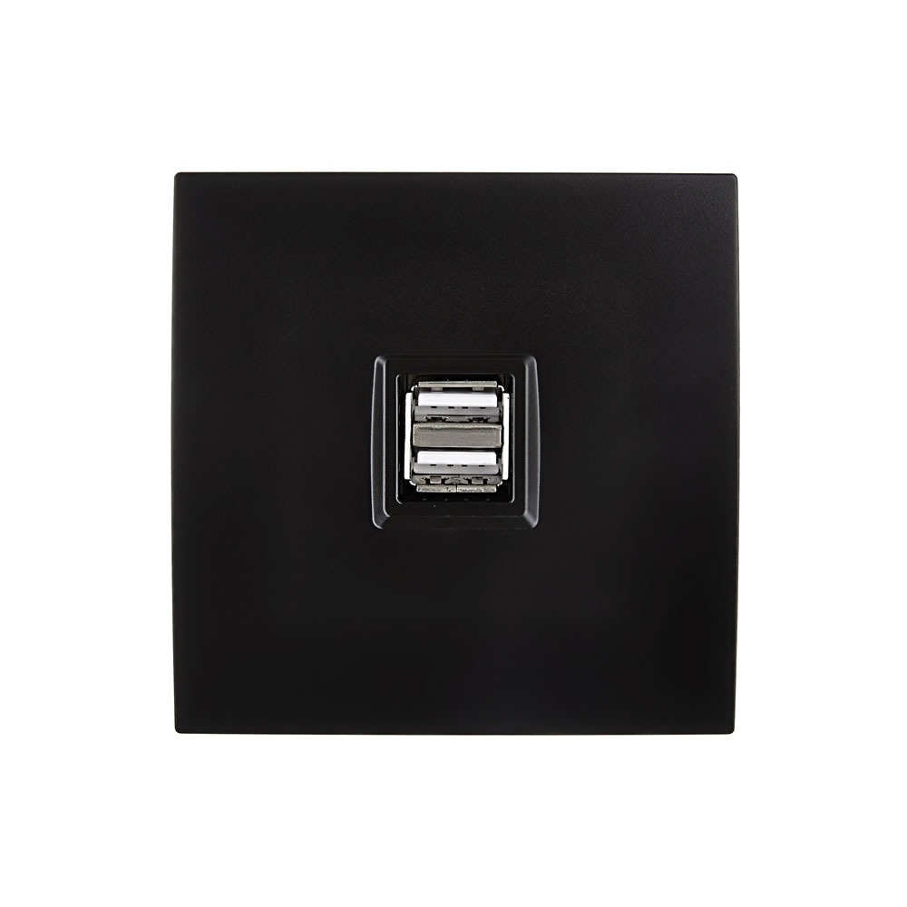 karo - USB charger - Black Satin finish