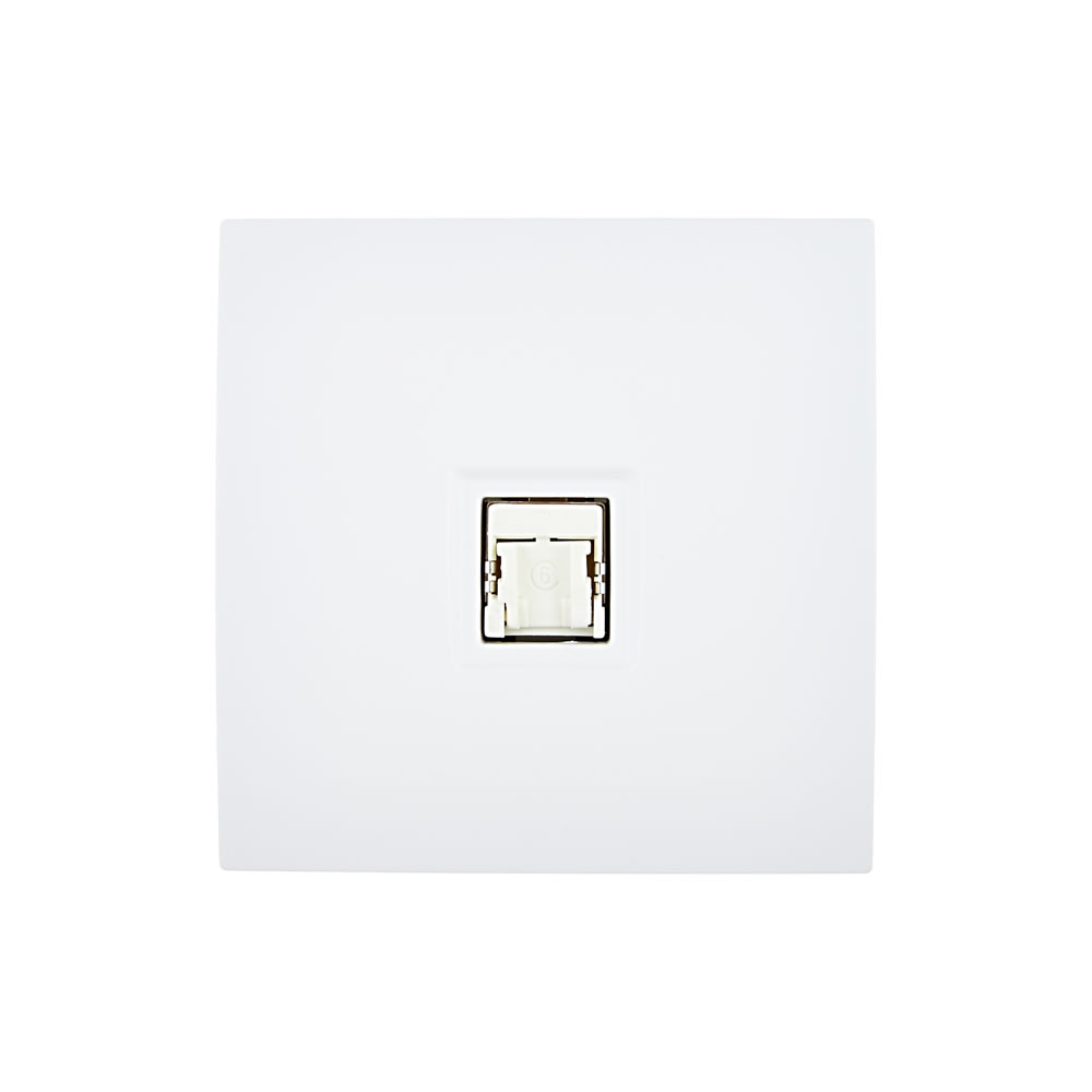 karo - RJ45 socket - White Satin finish