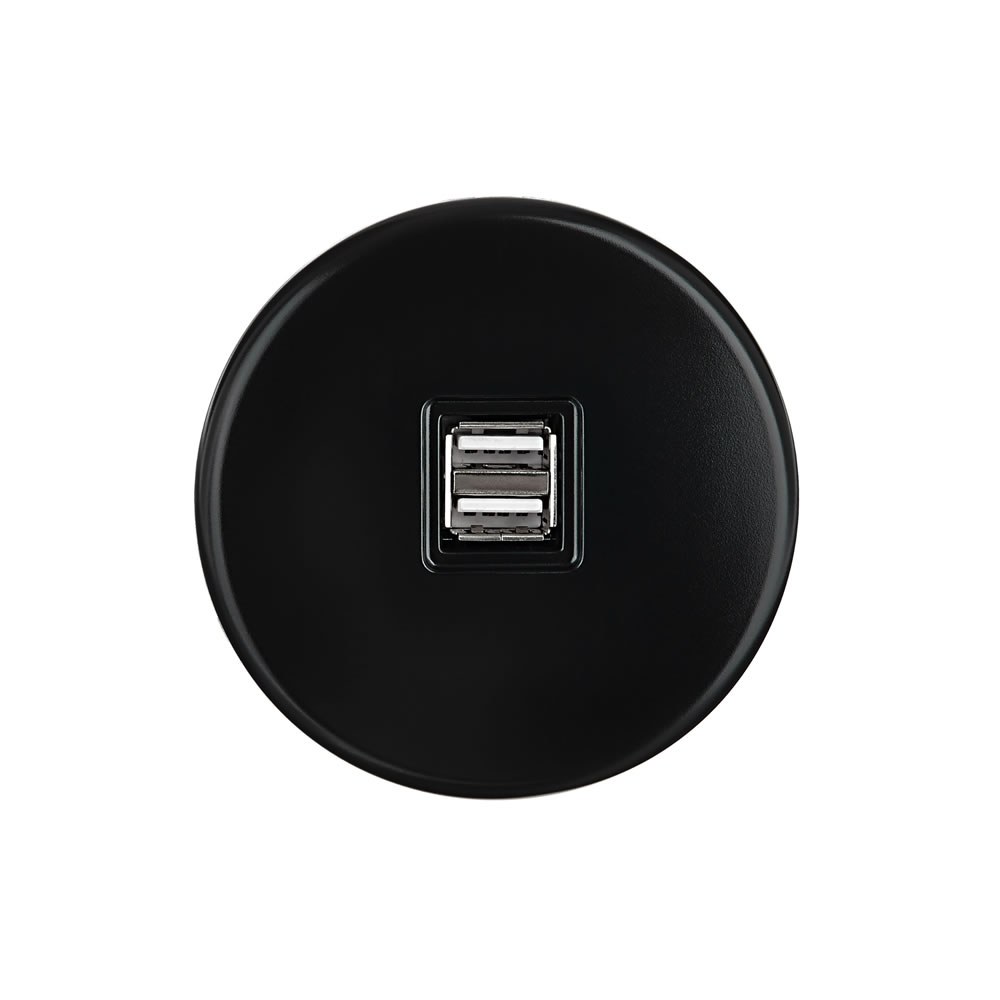IRIS - USB charger - Black Satin finish