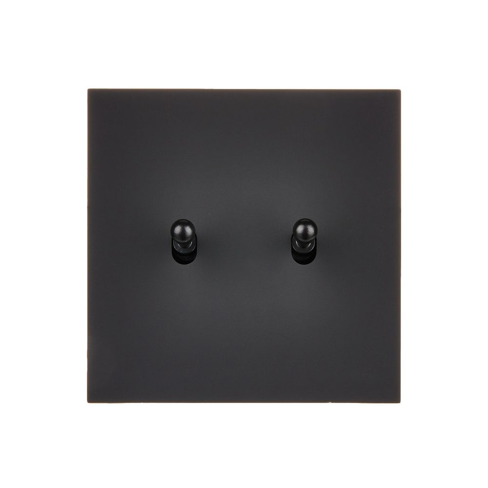 DÉSIR SATIN - Double two-way switch - Black Soft Touch finish