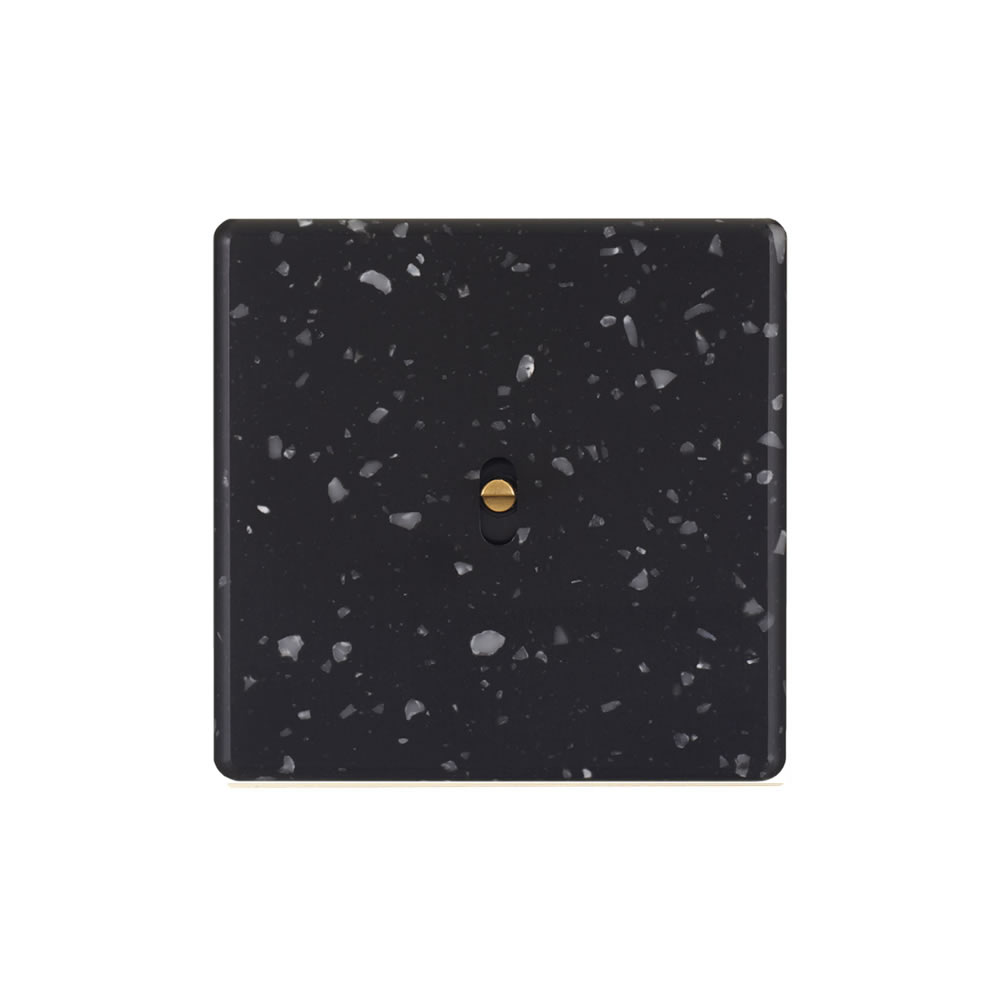 HIKARI - Single two-way - Black Terrazzo finish