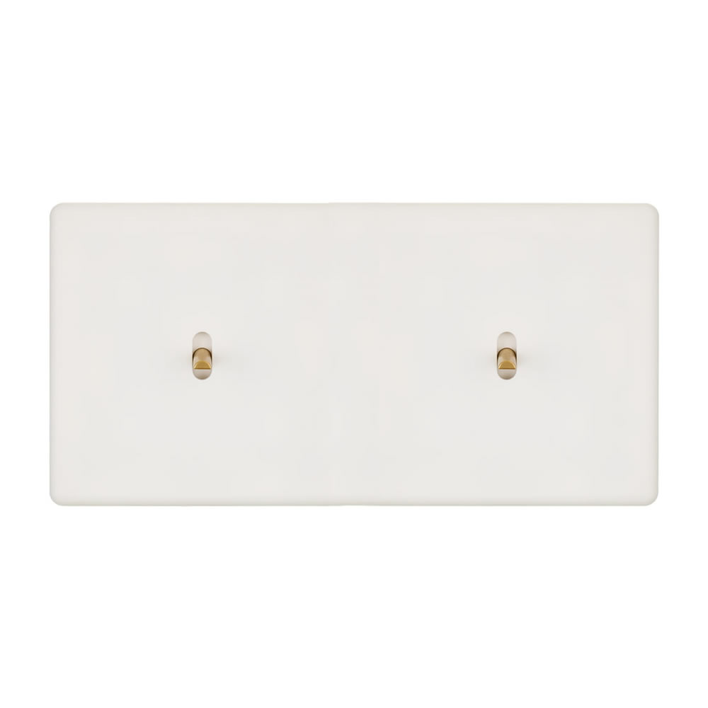 HIKARI - Double two-way switch - White Soft Touch finish