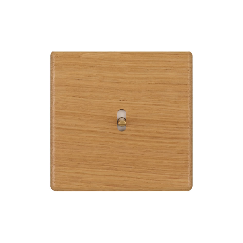 HIKARI - Single pushbutton - Light Oak finish