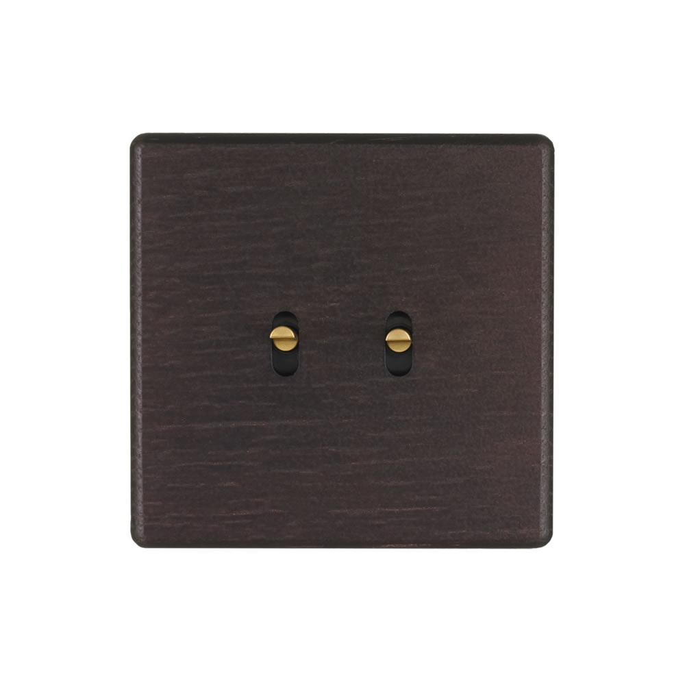 HIKARI - Double two-way switch - Dark Oak finish