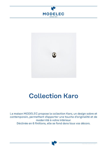Fiche Collection Karo
