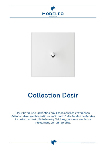 Fiche Collection Désir Satin